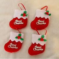Calcetín de Navidad Papá Noel Colgando Bolsa Regalo Decoración de Árbol Navidad