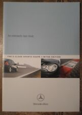MERCEDES BENZ C CLASS SPORT COUPE Limited Edition 2003 UK Mkt Sales Brochure