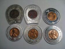 6 Encased Pennies.  #32