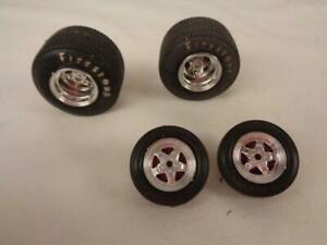 Firestone Pro-Street Wide Tires & Small Fronts & 5 Spoke Mags for Model Car 1/25
