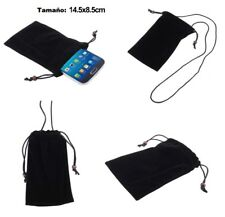 for LG OPTIMUS CHIC, E720 Black Case Cover Cloth Carry Bag Chain Loop Closure