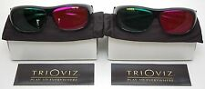 NEW 2 PACK TriOviz InfiColor 3D Glasses XBox 360 PS3 Thor Enslaved Green Lantern