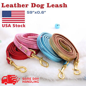 PU Leather Dog Leash Walking Dog Pet Lead Soft Leather Strap