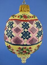 Jim Shore Floral Top Bottom Christmas Tree Ornament #118707