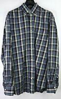Peter Millar Men's Multicolor Plaid Button Front Long Sleeve Shirt Size L
