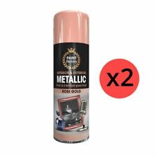 2 x Rose Gold Metallic Spray Paint Aerosol Auto Matt Gloss Wood Metal 400ml