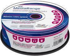 25 Mediarange Rohlinge CD-R full printable waterguard glossy 700MB 52x Spindel
