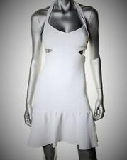 GUESS NEW $158 SEXY WHITE BANDAGE DRESS WITH FLOUNCE HEM CUT-OUT BACK M NWT