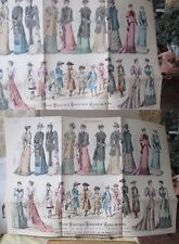 Vintage Print,FOLD OUT SUPPLEMENT,Young Ladies Journal,May 1892