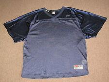 NEW Nike Mens Dark Navy Blue Mesh Football Lacrosse Sports Jersey Shirt 2XL XXL