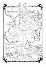 Stampa incorniciata-GAME OF THRONES Mappa del Nord (foto programma TV Poster Art)