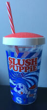 More details for slush puppie reusable ice cold drink cup with straw (bnwt)