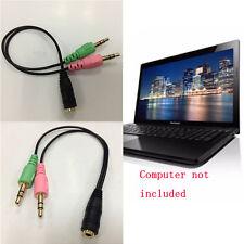 Y-Splitter Audio Adapter Kabel 3.5 mm Buchse zu 2 Stecker für Mikrofo Kopfhörer