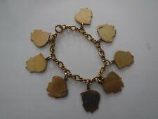 Vintage  LaStage Charm Bracelet Gold filled with 8 Forstner Charms Gold Filled