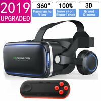 Virtual Reality Glasses 3D VR Headset With Remote Controller For iPhone 6 7 8 X