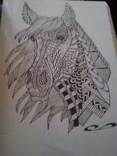 dessin à l'encre d'un cheval