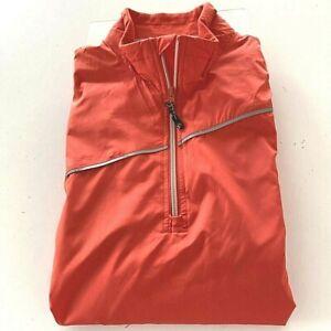 Sunice Pine Barrens Golf Club Mens M Weather Jacket SS Orange 1/4 Zip Mock Neck