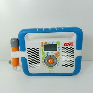 Fisher Price Music Player Mp3 Karaoke with Microphone Blue Works