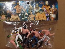 8 Lucha Libre  Plastic Figures Wrestling CMLL Set, 2 Inches