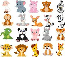 Animals Bedroom wall / toy box stickers Vinyl Baby Nursery Childrens Window  zoo