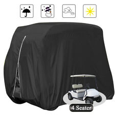 Waterproof Golf Cart Black Storage Cover 4 Passenger Fits EZ GO Club Car YAMAHA