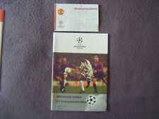 1999 CHAMPIONS LEAGUE Trim finale-Man United V INTER-PROGRAMMA & BIGLIETTO + +