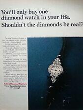 1976 Bulova Watch Company Diamond Watches Original Ad