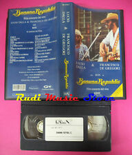 VHS LUCIO DALLA & FRANCESCO DE GREGORI Banana republic 1979 RON no mc dvd lp