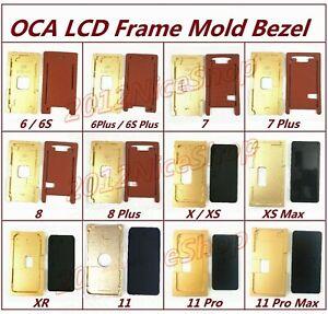 Alignment LCD OCA Frame Bezel Mold Rubber Laminator Pad For iPhone 5S-12 Pro Max