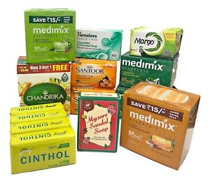 Mysore Sandalwood Soap,Chandrika,Medimix,Neem,Santoor Cinthol