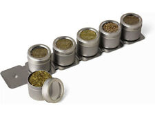 Kamenstein Magnetic spice Rack with 6pcs Canisters Kitchen Storage paypal