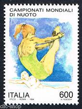 ITALIA UN FRANCOBOLLO CAMPIONATI MONDIALI DI NUOTO TUFFATRICE 1994 nuovo**