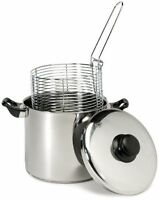Cook Pro 6 Qt Stainless Steel Stovetop Deep Fryer & Stock Pot All-in-one - 1.50