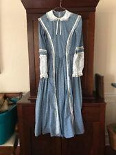 """1860's Civil War Era Reproduction Period Dress 14""""waist 33""""bust 53"""" length"""