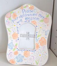 NEW Ganz Treasured MEMORIES Frame Children BLOSSOM Flower Bella Casa Peach White