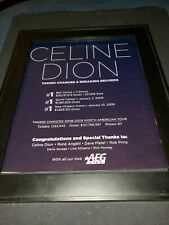 Celine Dion Taking Chances Rare Original Aeg Promo Poster Ad Framed!
