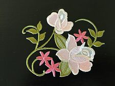 Sew on & iron on  patches(Vintage flower vine-pink)