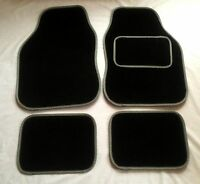 Black & Grey Car Mats For Citroen C1 C2 C3 C4 Ds3 Ds5 Saxo