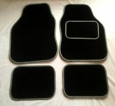 Black & Grey Car Mats For Nissan Almera Micra Primera Figaro Qashqai Note Juke