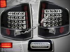 1994-2004 CHEVY S10 SONOMA TAIL LIGHTS LED BLACK & 3rd BRAKE LIGHTS