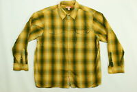 Men's Guess Button Shirt  2XL Multicolor Long Sleeve Plaid Cotton