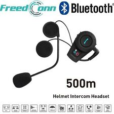 500M Motorcycle Helmet Moto Bluetooth Interphone CasqueHeadset Multi Intercom+FM