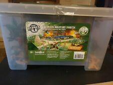 True Heroes Ultimate Military Playset 100 Pieces with Storage Container