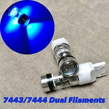 Front Turn Signal Parking Light Cree XBD Blue LED bulb T20 7443 7444 W1 JAE