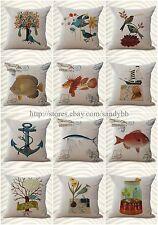 US Seller-wholesale decorative wholesale 10 cushion covers whale fish nautical