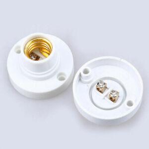 2pcs Screw Socket E14 Light Bulb Base Adapter Lamp Surface Fixing Holder Set Hot