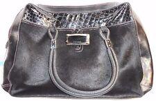 ESCADA EXOTICS Vintage 80s Handbag Purse Black Pony Hair Fur Leather Pearl Red