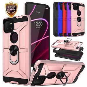For T-Mobile REVVL 4 / REVVL 4 Plus / REVVL 5G Shockproof Ring Holder Case Cover