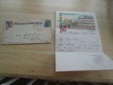 1883 N.H. Mt Washington Summit House Envelope, Letterhead, Correspondence ++