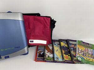 LeapFrog Quantum Leap Pad Bundle Shoulder Messenger Bag w/ 8 Games And Books